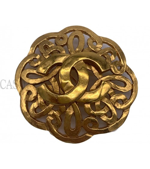 CHANEL VINTAGE GOLDTONE BROOCH